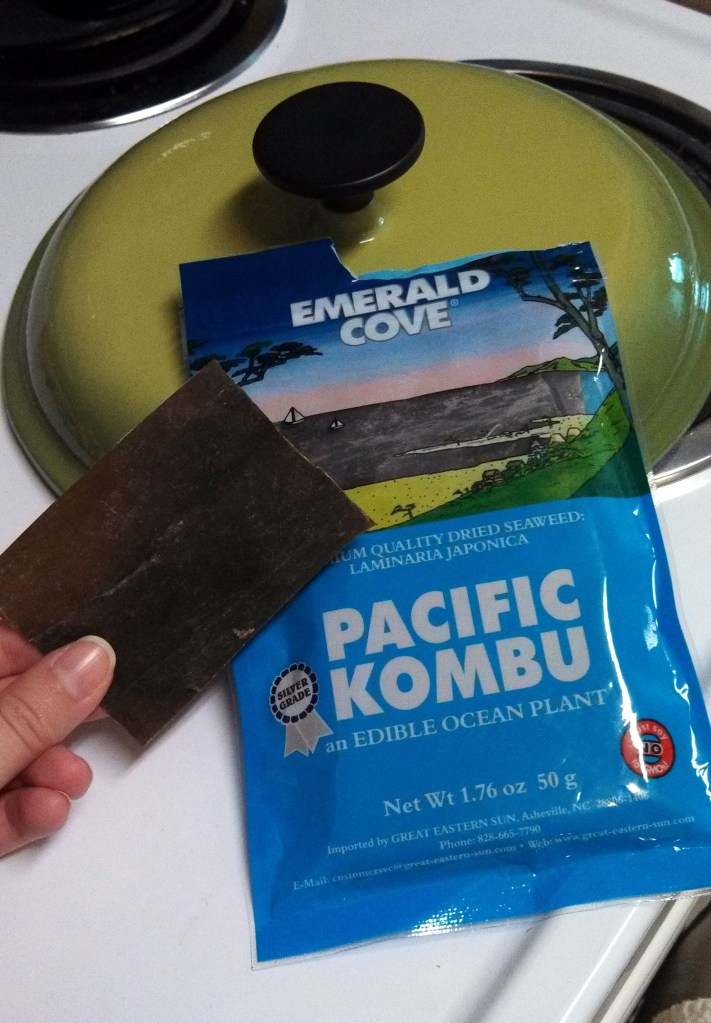 Kombu.  An edible sea plant.  I think that says it.