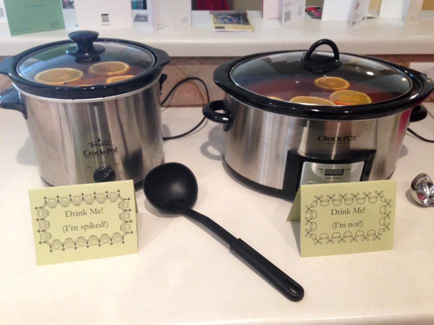 Crockpots of wassail