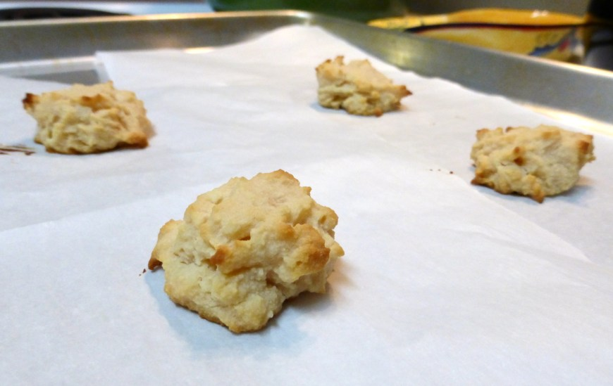 One super simple recipe.  Four two-bite cookies.  Perfect end-of-the-evening snack!